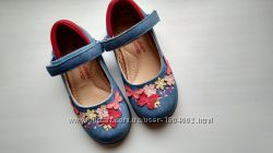 туфлі з вишивкою, 24 розмір, George, Англія