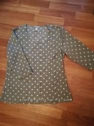 блузка, рубашка в горошек h&m