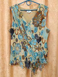 Красивая модельная блузка бренд klass collection р. 18-20