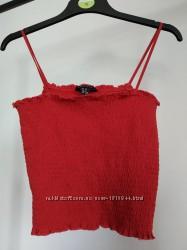 Красный женский топ на резинке
