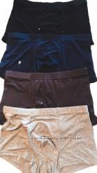 Мужские трусы боксеры набор черный, светло-серый, коричневый, синий 2119