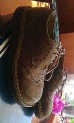 Туфли  нубук на шнурках