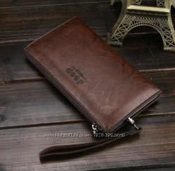 Мужской кожаный кошелёк, клатч, портмоне.