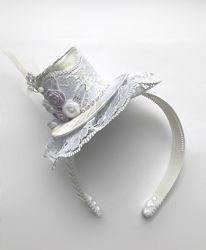 Нарядная шляпка - обруч ручной работы