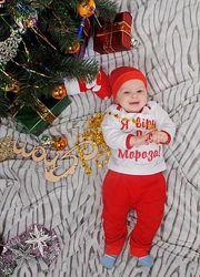 Теплый новогодний костюмчик Я вірю у Діда Мороза