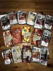 Кофе Starbucks США в ассортименте зерновой молотый 340г кава Старбакс USA