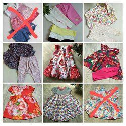 пакет одежды для девочки 6-9 месяцев