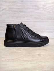 Мужские кожаные ботинки Georgio Armani натуральная кожа philipp plein