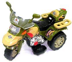 Детский большой с большими колесами электромотоцикл, электро мотоцикл.