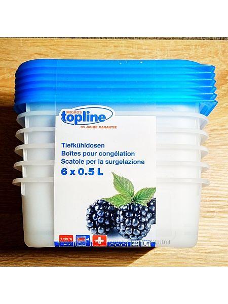 Пищевые, морозильные контейнеры 6 х 0,5 L. Швейцария