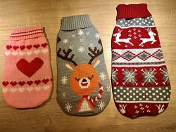 Светр для собаки різдвяний святковий
