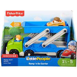 Автовоз с машиной 2-в-1 Fisher-Price Little People Ramp &acuten Go Carrier