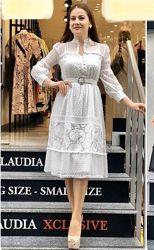 Очень красивое платье, батист, Турция, S, M, L, XL