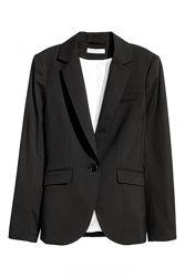 Пиджак H&M 0443368001 XS Черный 60854