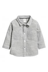 Рубашка H&M 0453091002 68 СМ  Серый 58992
