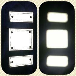 Светоотражатели набор 3шт. для одежды, рюкзака