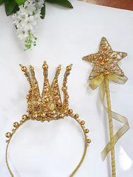 Корона ручной работы для девочки , комплект для Принцессы