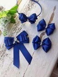 Комплект школьных аксессуаров бант галстук ободок