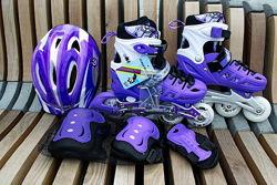 Детские ролики с защитой/роликовые коньки Scale Sports размеры 29-33,34-37