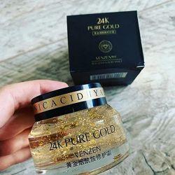 Восстанавливающий крем-гель для лица с коллоидным золотом Venzen