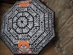 Яркий, стильный брендовый зонт Moschino