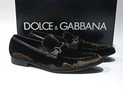Велюровые туфли лоферы Dolce & Gabbana Оригинал
