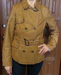 Куртка кожаная натуральная бычья orsay орсей орсэй пиджак кожа шкіра жакет
