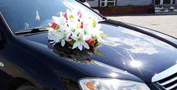 украшение на свадебную машину, украшение на свадебное авто, свадьба