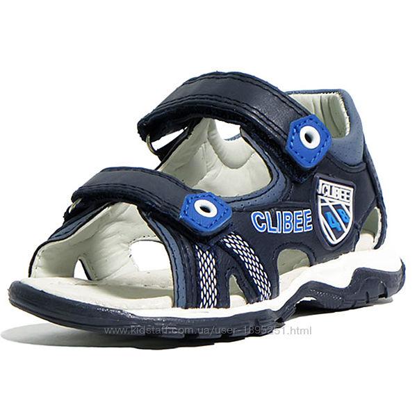 Clibee 254 blue-royal Кожанные босоножки сандали шкіряні босоніжки обувь