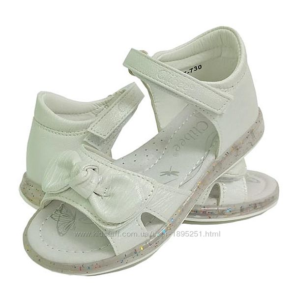 Clibee 730 white белый Босоножки сандали босоніжки обувь для девочки