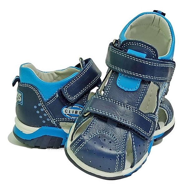 Clibee Ав-11 синий с голубым Босоножки сандали босоніжки летняя обувь