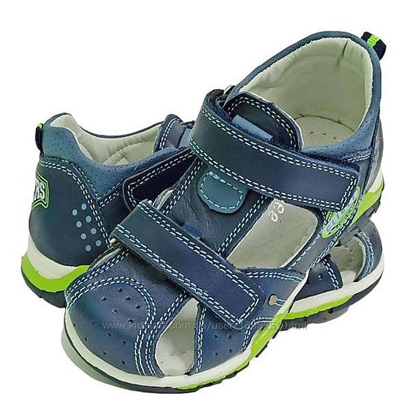 Clibee AB-11 синий с зеленым Босоножки сандали босоніжки летняя обувь АВ-11