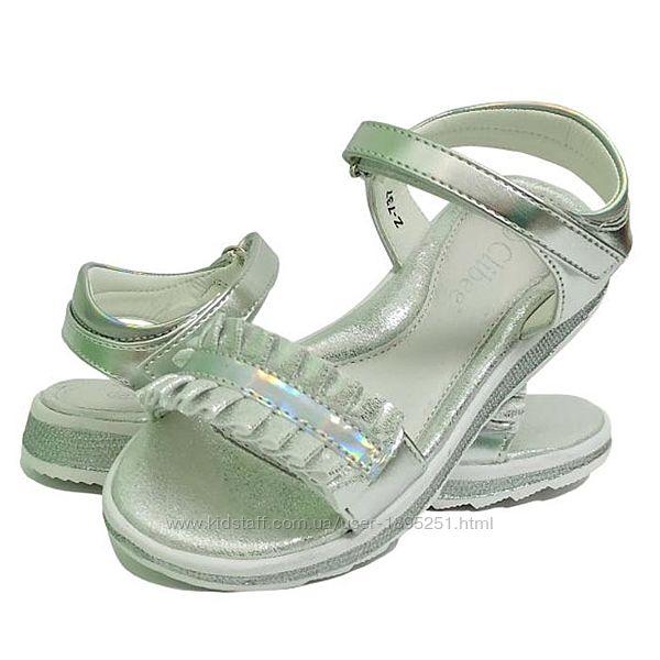 Clibee 737 серебристые Босоножки сандали босоніжки летняя літнє