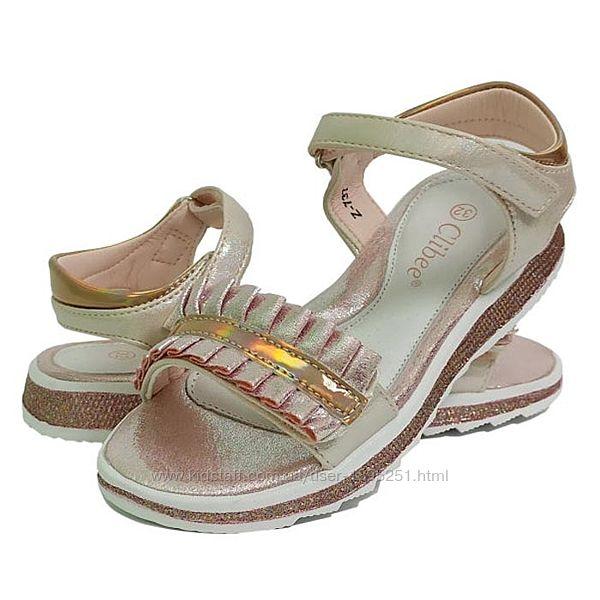Clibee 737 розовый босоножки сандали босоніжки летняя літнє для девочки