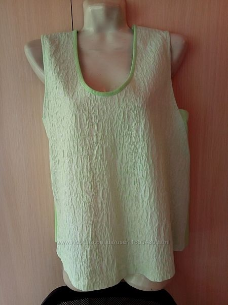 Оригинальная безрукавка блуза жилетка zara размер xl бохо новая