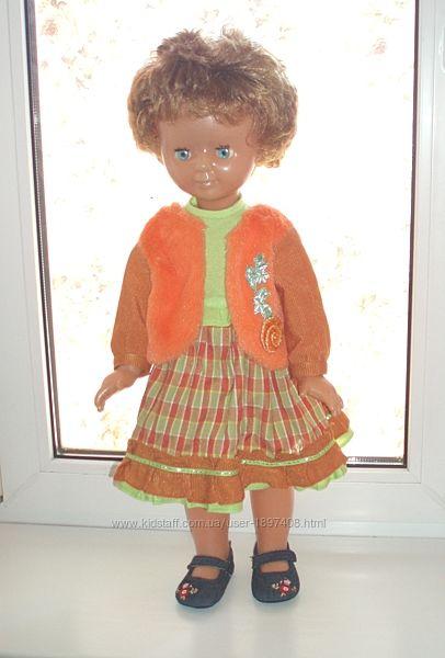 Кукла винтаж 70-е гг ДЗИ на резинках клеймо пластик платье в подарок