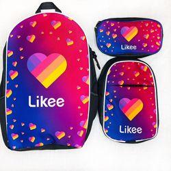 Набор рюкзак школьный, мини-рюкзачок и пенал Likee