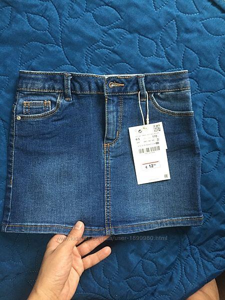 Джинсовая юбка на 4-5 лет зара Zara