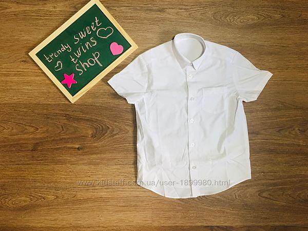 Рубашки новые белые с коротким рукавом на 3,4,6 лет george
