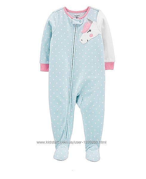 Тепленький флисовый комбинезон пижама на 3 года картерс carters
