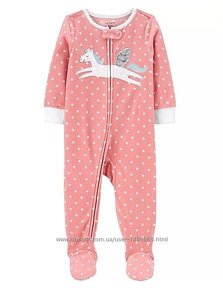 Слип флисовый комбинезон пижама на 2 года картерс carters