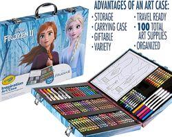 Crayola Inspiration Art Case Frozen Крайола Набор Чемодан художника 100шт.