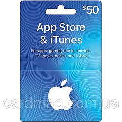 Подарочная карта iTunes Apple / App Store Gift Card на сумму 50 usd, US-регион