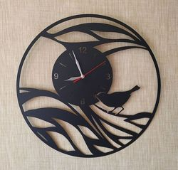 Большие настенные часы из металла  Рассвет