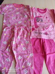 Хб пижамы для мальчиков и девочек от года до 8лет легкие интерлок байка Укр