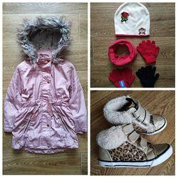 Tu george arctic демисезонный комплект одежд р.110/116 - парка, ботинки