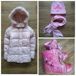 Minx шалунишка демисезонный комплект одежды р.98/104 - куртка, ботинки, шап