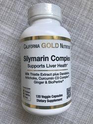 Силимарин , здоровье печени , силимариновый комплекс , 120 шт , California