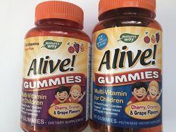 Alive , Витамины для детей , Комплекс мультивитаминнов для детей , 60 шт