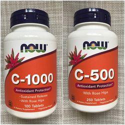 Now Foods , Витамин С , С-1000 , витамин С с шиповником , 100 шт
